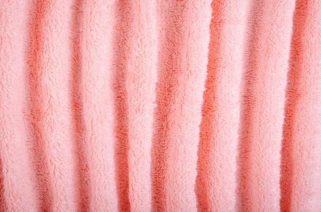 Rosa handtuch stoff textur, draufsicht foto.