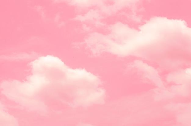 Rosa himmel mit unscharfem musterhintergrund