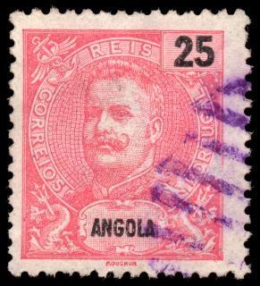 Rosa König Carlos I. Stempel