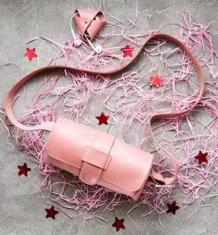 Rosa ledertaschen und accessoires