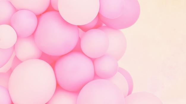 Rosa luftballons foto wanddekoration