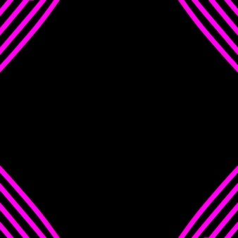 Rosa neonstreifenlicht auf ecke des schwarzen hintergrundes