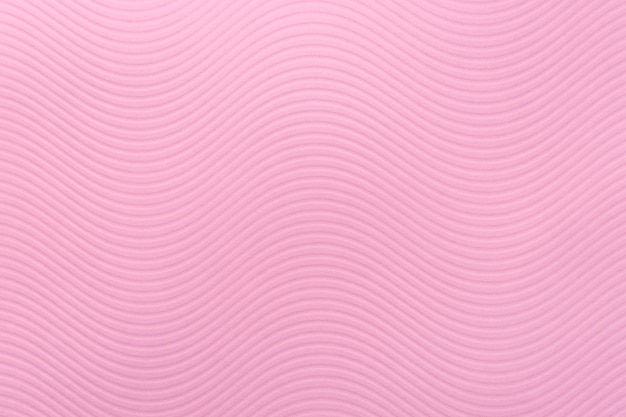 Rosa papierstruktur, kunstmuster, weiche wellen, streifen, zarte farbe, raue wand, kurvenwellenreliefdesign