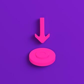 Rosa pfeil zeigt ziel auf violett