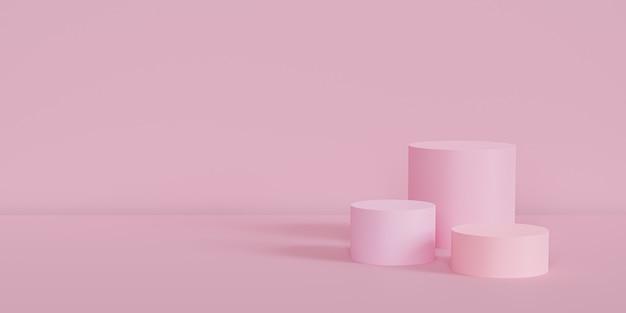 Rosa podeste oder podeste für produkte oder werbung