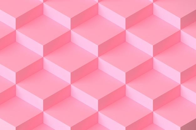 Rosa quadratische modulare abstrakte wiedergabe des hintergrundes 3d