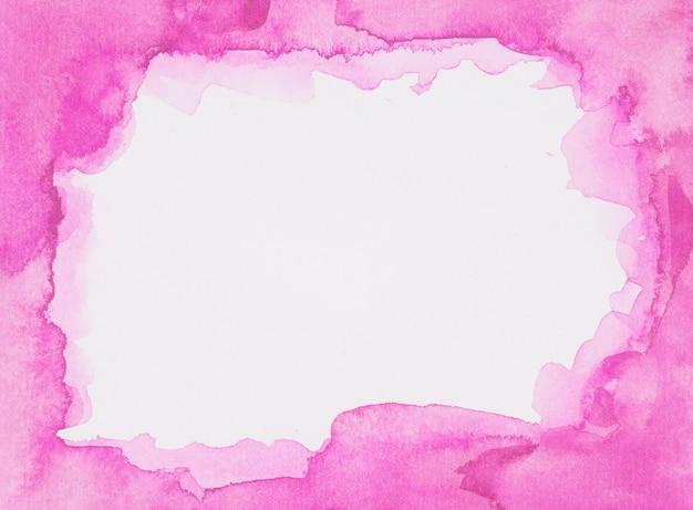 Rosa rahmen von farben auf weißem blatt