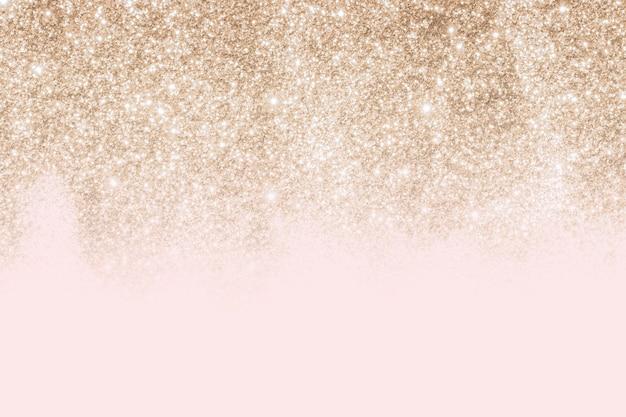 Rosa und goldener glitzernder musterhintergrund