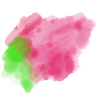 Rosa und hellgrüner aquarellfleck