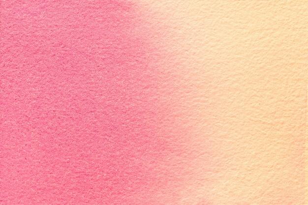 Rosa und korallenfarben des abstrakten kunsthintergrundes. aquarellmalerei auf leinwand. grafik auf papier mit muster.