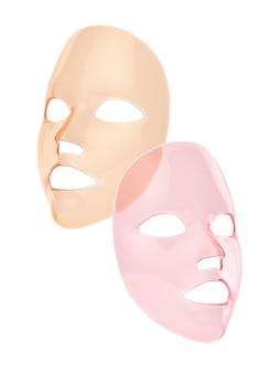 Rosa und orange blattmaske 3d übertragen