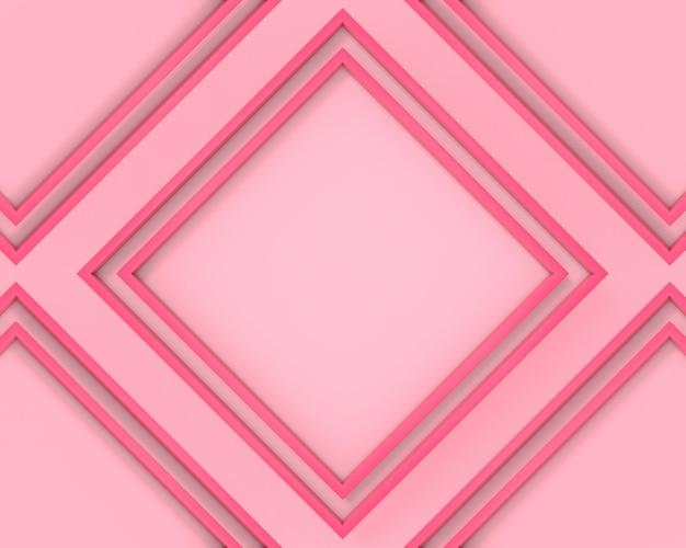 Rosa weicher pastellfarbquadratischer musterrahmen-wandhintergrund.
