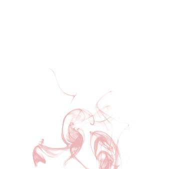 Rosa wirbelnder rauch