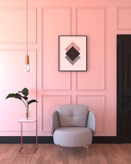 Rosa wohnzimmer