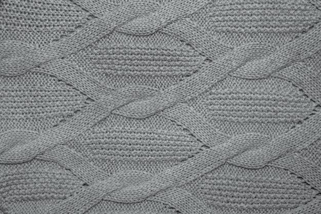 Rosa wollpullover textur nah oben. gestrickter jersey-hintergrund mit reliefmuster