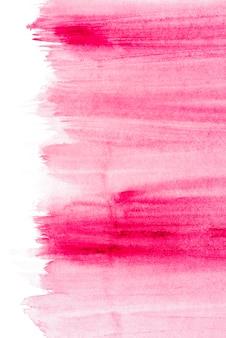 Rosafarbener bürstenanschlag lokalisiert auf schmutzhintergrund