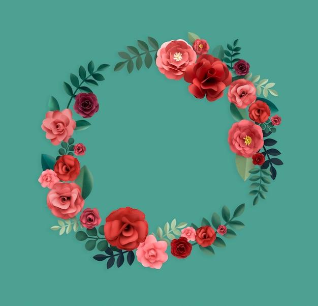 Rose pattern floral texture-konzept