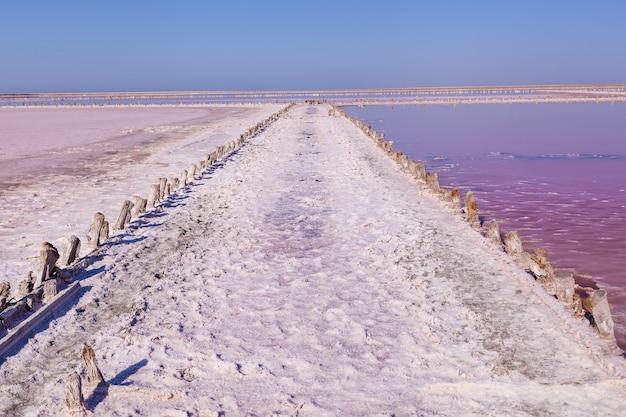Rose salzsee sivash produktion und salz und heilschlamm.ukraine region cherson