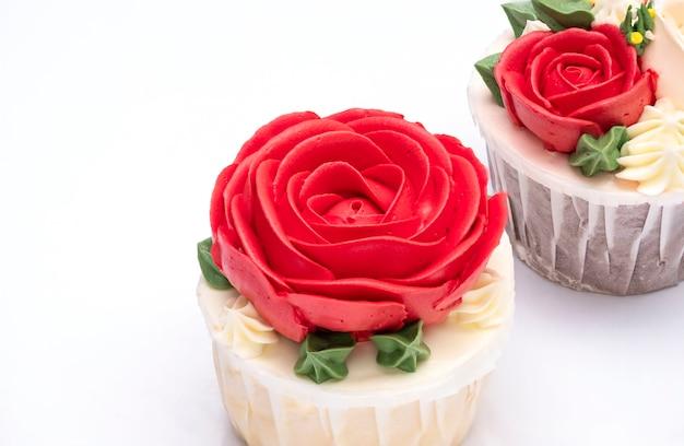 Rosen cupcake