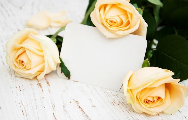Rosen mit einer karte