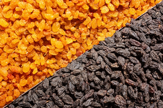 Rosine getrockneter traubenhintergrund