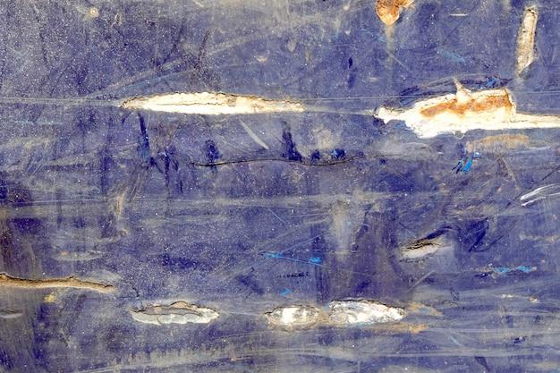 Rost auf blauem zink