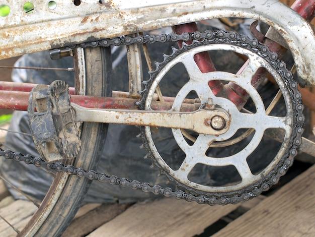 Rostige fahrradkette