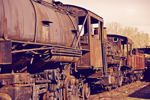 Rostige lokomotiven