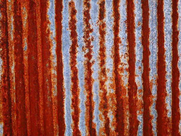 Rostige metallwand, alte zinkdachbeschaffenheit, schmutzige eisenplatte.