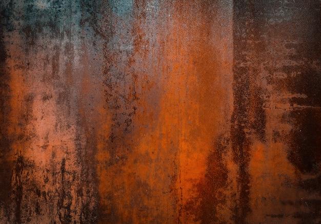 Rostiger alter metalloberflächenbeschaffenheitshintergrund