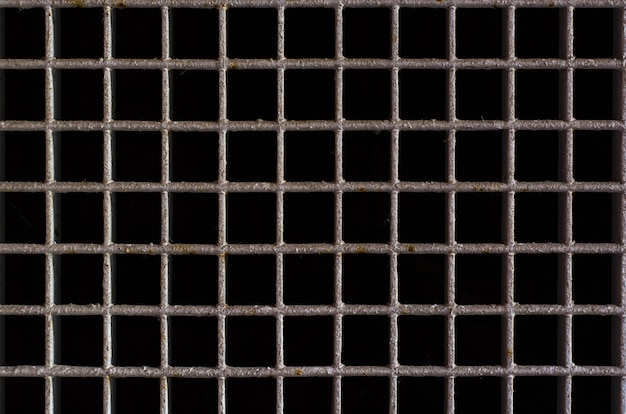 Rostiges metallgitter