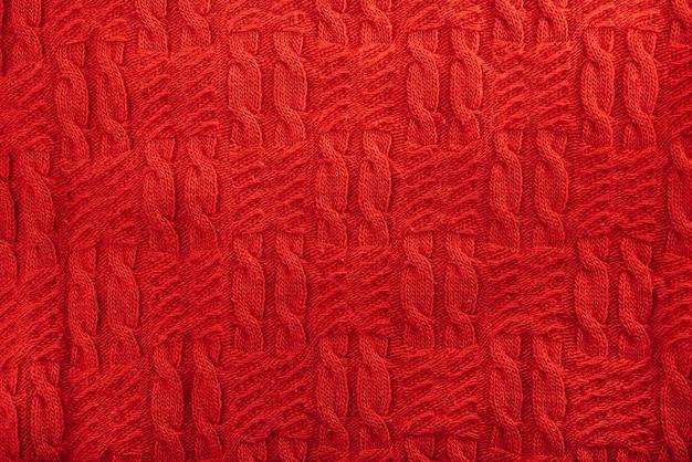 Rot gestricktes textil