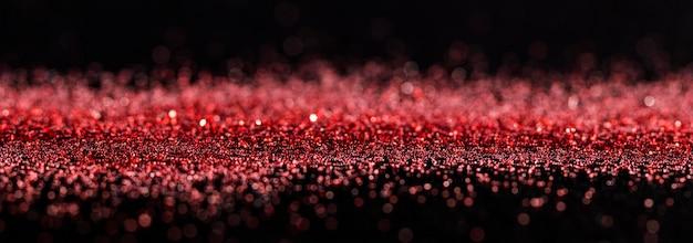 Rot schimmernder glitzer