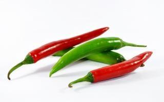 Rot und grünem chili