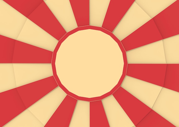 Rot und vanille zirkusfarbe im sonnendurchbrucharthintergrund.