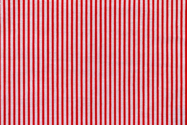 Rot-weiß gestreifte stoffstruktur