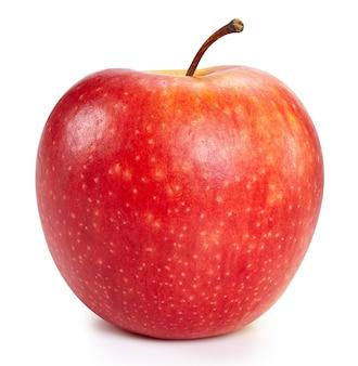 Rote äpfel lokalisiert auf weißem hintergrund