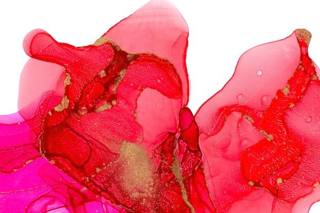 Rote aquarelltinten lokalisiert auf weißem hintergrund.