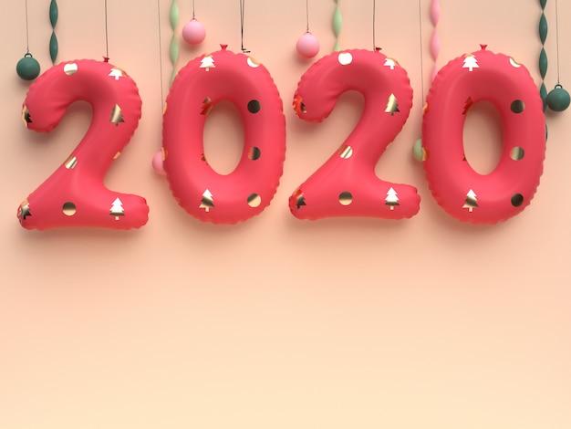 Rote art ballon des gold 2020 hängende wand