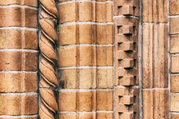 Rote backsteinmauer textur