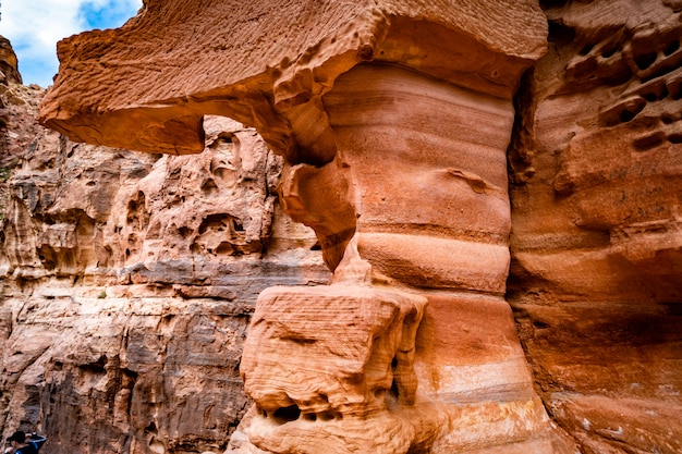 Rote berge in petra, jordanien