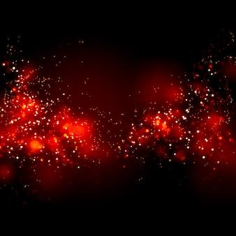 Rote blutkörperchen, die unschärfebokeh auf dunklem hintergrund bewegen