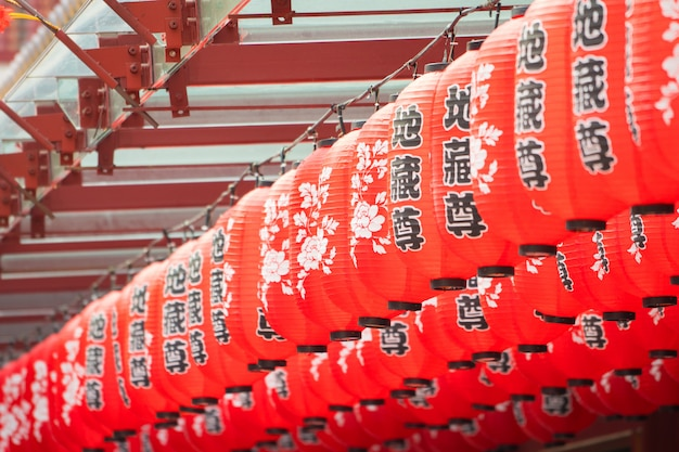 Rote chinesische laterne