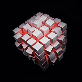 Rote explosionsbox Premium Fotos