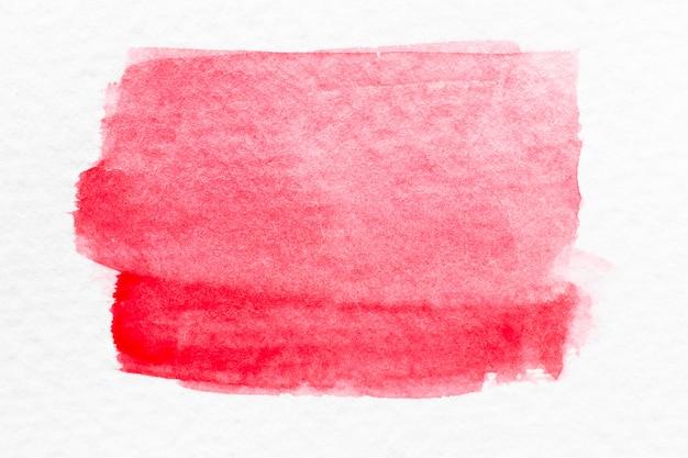Rote farbaquarellhandzeichnungsbürste