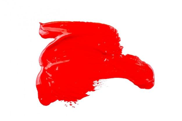 Rote farbe auf weißem hintergrund