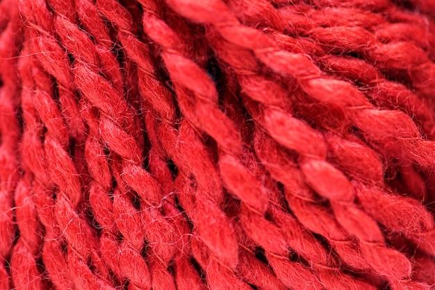 Rote gewebenahaufnahme