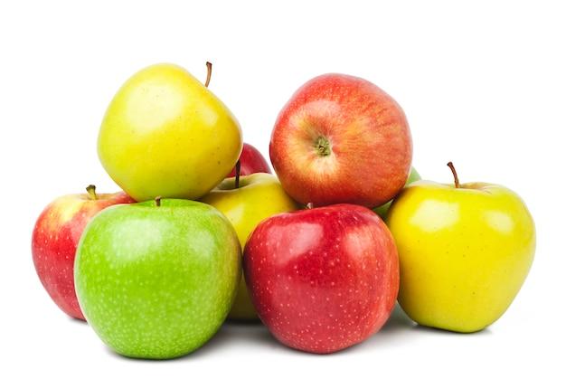 Rote, grüne und gelbe äpfel