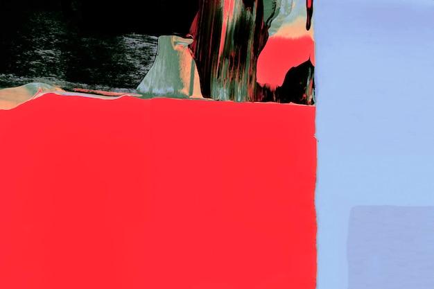 Rote hintergrundtapete, acrylfarbenbeschaffenheit mit leerzeichen