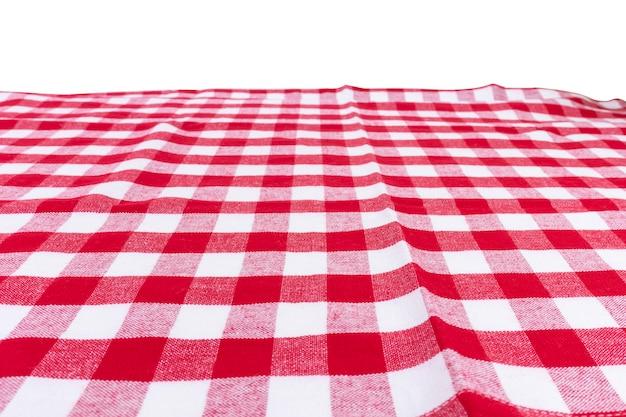 Rote karierte küchentuchperspektivenansicht